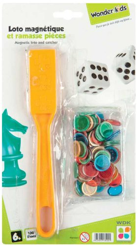 WDK Partner A1300730 - Juego de 100 fichas magnéticas para lotería