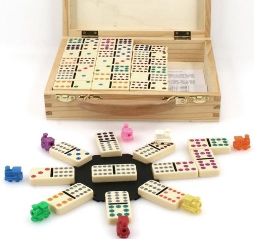 weiblespiele 04394–Domino Mexican Train Doble 12