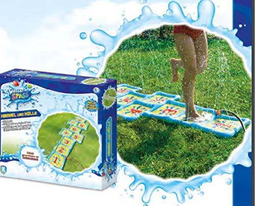 Xtrem Toys Cielo, Juego, Alfombrilla para Saltar, diversión para niños a Partir de 6 años, Ideal, Verano, Simplemente conectar a la Manguera de jardín, Color carbón (00328)