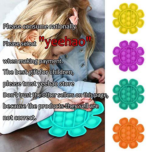 yeehao 1 juguete sensorial Push Pop Bubble para aliviar el estrés y necesidades especiales silenciosas (C-amarillo)