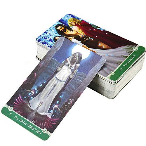 YOYOTECH Universal Celtic Tarot Juego de baraja de 78 Cartas con guía electrónica Tablero de adivinación Lectura Love Moon Near Me Beginners