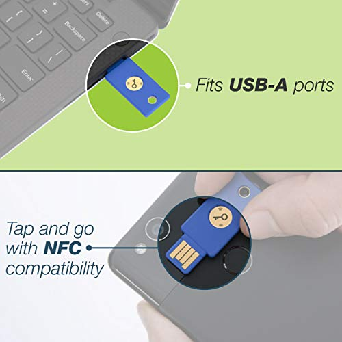 Yubico Security Key NFC - U2F and FIDO2, USB-A, NFC, Two-Factor Authentication