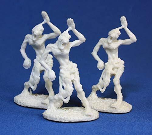 3 x Zombies - Reaper Bones Miniatura para Juego de rol Guerra - 77014