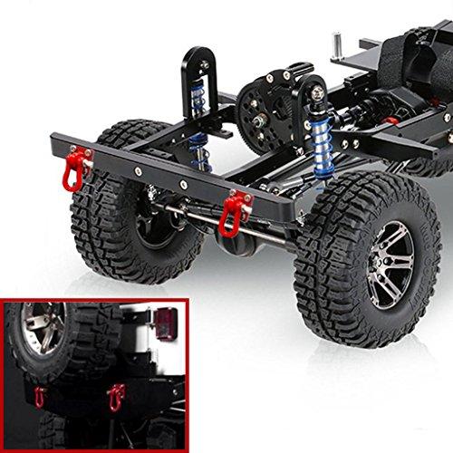 4X Ganchos De Remolque De Metal Hebilla Cabrestante Grilletes Accesorios para 1/10 Escala RC Crawler Truck Coches Modelo, Rojo