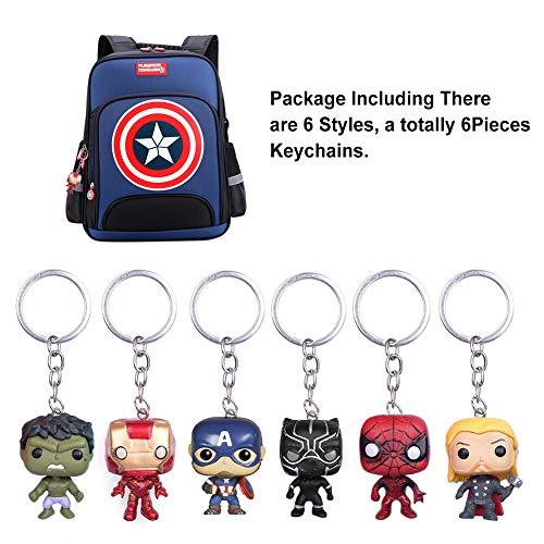 6Pcs Marvel Fans Llavero SuperHeroes The Avengers Llavero Deadpool Colgante Llaveros Iron man Spiderman Llavero