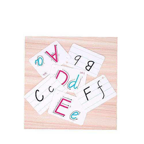 Abc Flash Cards Reconocimiento Carta Tarjetas Abc Juguete De Aprendizaje Tarjetas Del Alfabeto Para Bebés, Niños Pequeños, Pre-k Y Kindergarten Los Niños 1set
