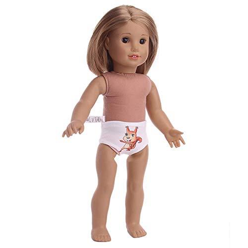 Aeromdale Bragas de muñeca de animal pateern ropa interior para niña americana de 43 cm, accesorio de muñeca solo disfraz de muñeca – ardilla – 1 pieza