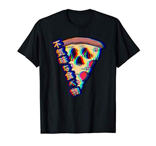 Aesthetic Vaporwave Otaku Creepy Food Pizza Camiseta