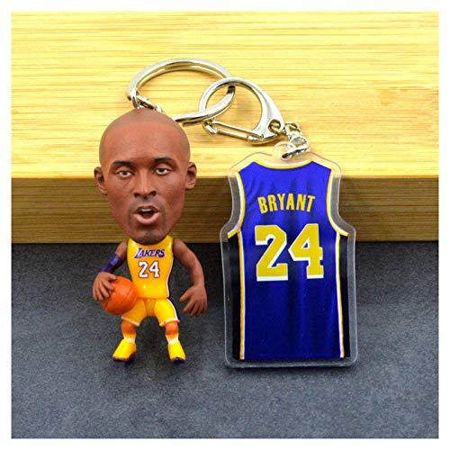 ahjs456 Kobe Curry NBA Baloncesto Camiseta Llavero Colgante Llavero muñeca Estrella James Durant Wade 1