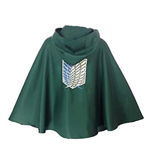 シーツ Alas de la Libertad Ropa Attack on Titan Cosplay Cloak Scouting Legion Jacket from The Attack on Titan Series