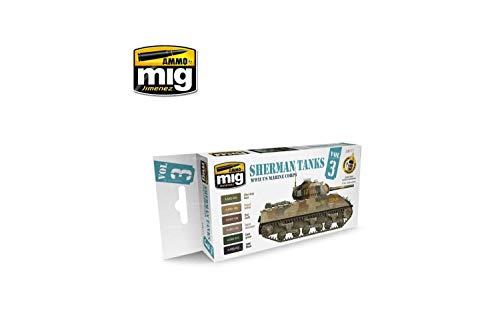 AMMO WWII Us Marine Corps Sherman Tanks Juego de Pintura acrílica, Multicolor MIG-7171