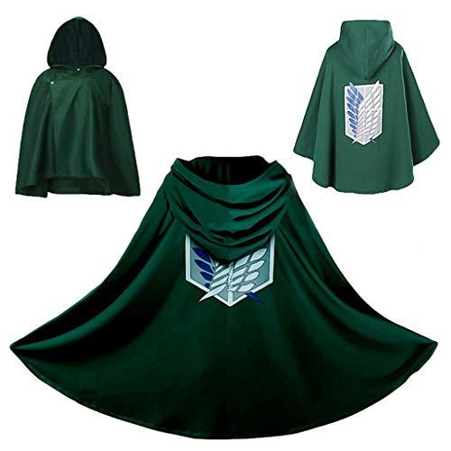 カリブ Aot Cape Cosplay Attack on Titan Figure Eren Titan Shingeki No Kyojin Capucha Scout Legion Cloak