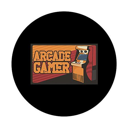 Arcade Gaming Retro Controller Game Over Play Juegos de PopSockets PopGrip: Agarre intercambiable para Teléfonos y Tabletas