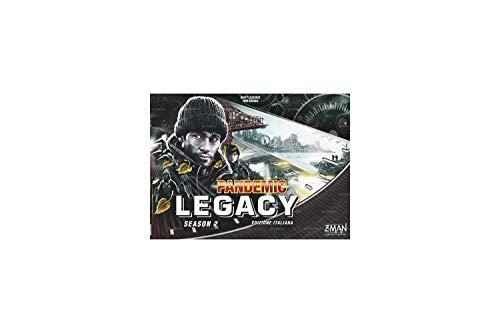 Asmodee- Pandemic Legacy Season 2 Negro, Juego de Mesa, Color, 8393