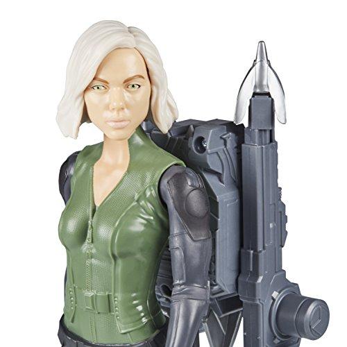 Avengers Marvel Infinity War Titan Hero Power FX - Figura de Viuda Negra