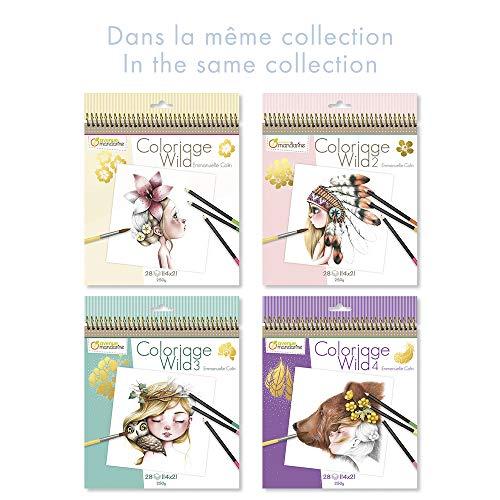 Avenue Mandarine - Cuaderno de colorear Wild 2 by Emmanuelle Colin (Edición colector) (GY068C)