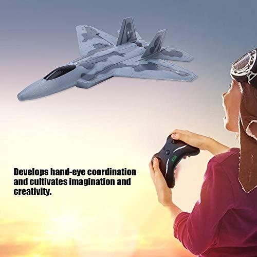Avión RC, FX-822 Control Remoto EPP Duradero Avión al Aire Libre Listo para Volar, Planeador Simulación Aerodinámica Modelo de Avión RC Juguete con Cargador USB para Niños Adulto Principiante