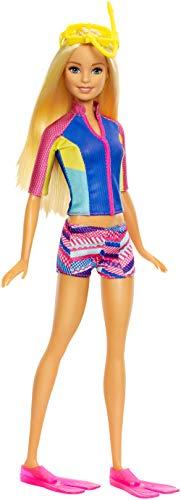 Barbie Aventura de los Delfines, muñeca con mascotas mágicas y accesorios (Mattel FBD63)