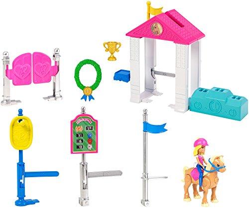 Barbie On the Go, carrera de ponis, muñeca con accesorios y caballo (Mattel FHV66)
