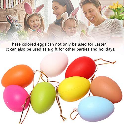 BESLIME Huevos Rellenos de Relleno de Pascua, Juego de 12 Huevos de Pascua de Colores, Juguetes Infantiles Ideal para el Hogar/Fiesta/Aula Decoraciones -10 Colores