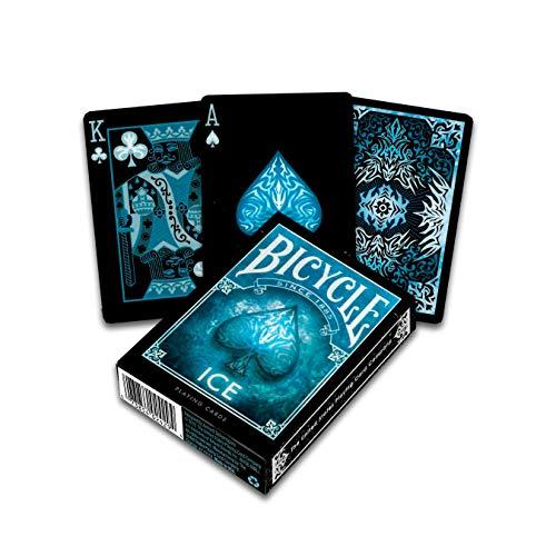 Bicycle Ice Baraja de Poker de Colección, Color Negro y Azul (The U. S. Playing Card Company 1040830)