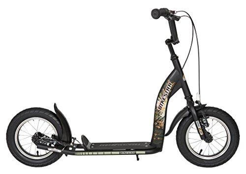 """BIKESTAR Patinete Infantil Patineta Scooter Premium Scooter para niños y niñas a Partir de 6-7 años   Edición 12"""" Sport   Negro"""