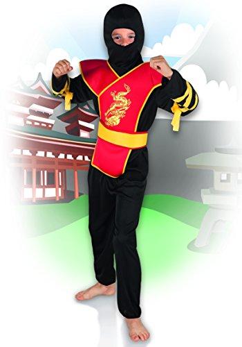 Boland 23464 Disfraz de Ninja Master para Niños, Rojo, 7-9 Años