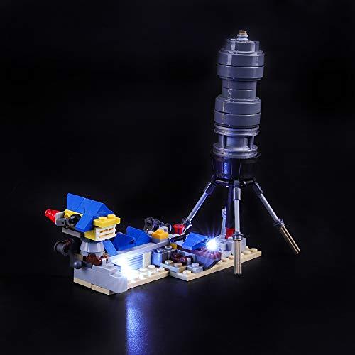 BRIKSMAX Kit de Iluminación Led para Lego Película 2 Casa de los Sueños/Cohete de Rescate de Emmet,Compatible con Ladrillos de Construcción Lego Modelo 70831, Juego de Legos no Incluido
