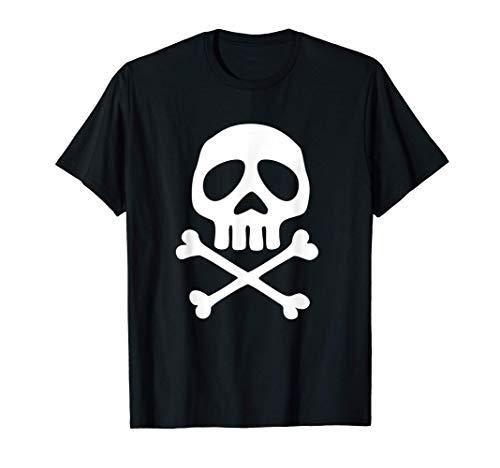Calavera pirata espacial, capitán, Halloween, Día de Muertos Camiseta