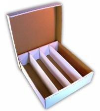 Cardbox per 4000 carte con coperchio