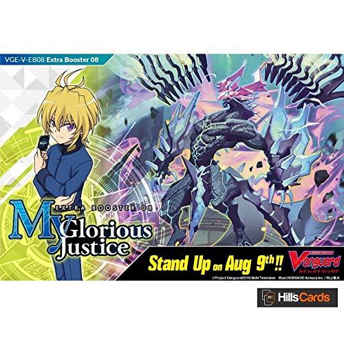 Cardfight Vanguard V-My Glorious Justice-Caja de presentación Extra de 12 Paquetes, Multicolor (Bushey Road VGE-V-EB08-EN)