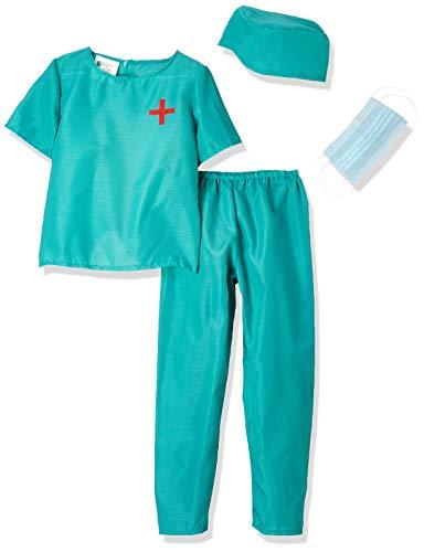 Carnival Toys 68802 - Disfraz infantil de cirujano, Unisex, Talla 6/7 años, Multicolor