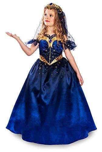 Cesar - Disfraz Princesa Luna 8/10 años, niña, F956, azul noche