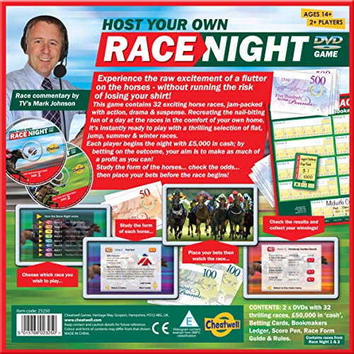 Cheatwell Games 23250 Host Race Night-2 DVD Edition, , color/modelo surtido