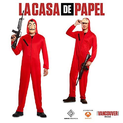 Ciao 706842.S Casa de Papel - Mono y máscara de ladrón de casa (talla S), disfraz de adulto, rojo, talla S