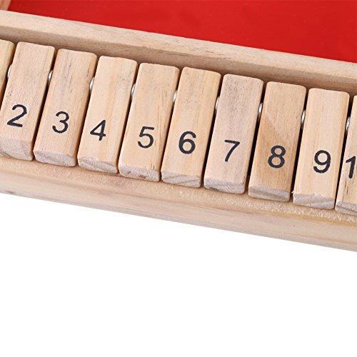 Cikonielf Tablero de Madera de 4 Jugadores, Juguete de Dados, Juego de Mesa de Madera, Tablero de Dados clásico, Juguete Familiar, Juego Tradicional, Juguete de Dados para Beber
