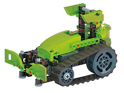 Clementoni-Laboratorio de Mecánica-Tractor cingolado-Juego de construcciones (versión en Italiano) -Fabricado en Italia, 8 años + (19178)
