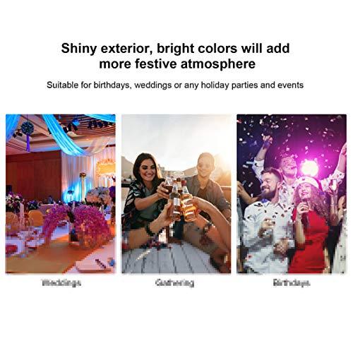Confeti de Flores, Confeti de Colores Mezclados, decoración de Festivales de PVC 3,2 cm + 1,5 cm Festival de Bodas para Bolsas de Regalo de Fiesta