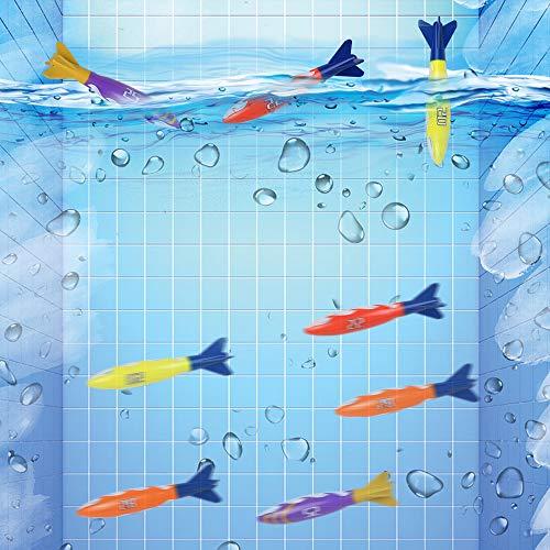 Conjunto Juego Acuático, Juego de Agua Buceo Tiburones Torpedo Juguetes Deportes Acuáticos Niños (8 Piezas)