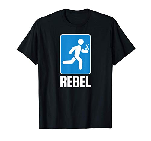 Correr con tijeras Chiste tonto Juego de palabras idiota Camiseta