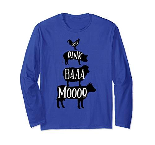 Cow Pig Sheep Chicken | Stack Farm Animal Sounds Silhouettes Manga Larga