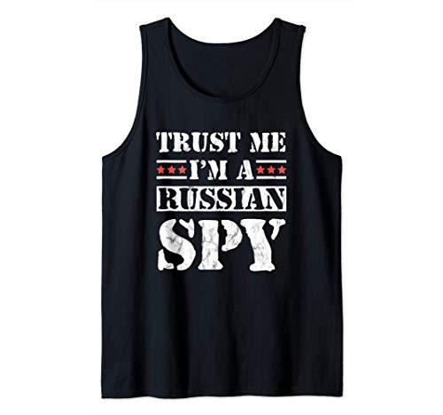 Créeme, soy un espía ruso parodia soviética de la URSS Camiseta sin Mangas