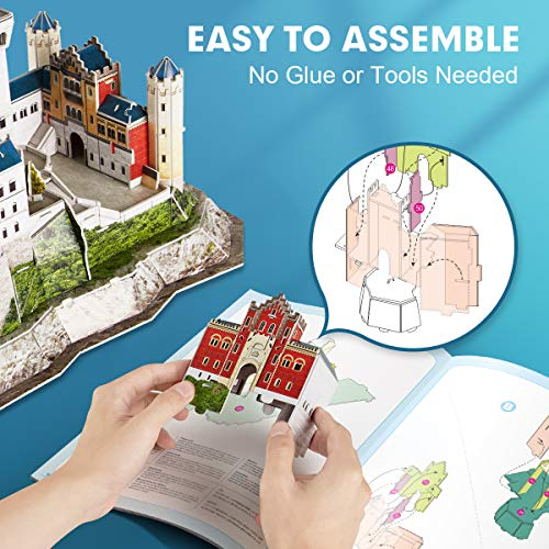 CubicFun Puzzle 3D Castillo de Neuschwanstein Schwangau Alemania,121 Piezas