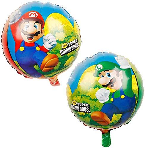 Cumpleaños Mario Bros - 9 Piezas Globo Mario Bros Helium Foil Balloons Mario Bros Globos de Fiesta Aluminio Globo Suministros de Fiesta