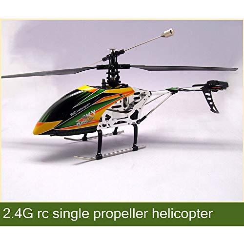DBXMFZW Soltero Propeller Aviones de Control Remoto de Cuatro vías 2.4G Radio Radio Grande RC Helicóptero Simulación RC Modelo Avión Avión RC Regalos de avión para Profesionales, niños y Adultos