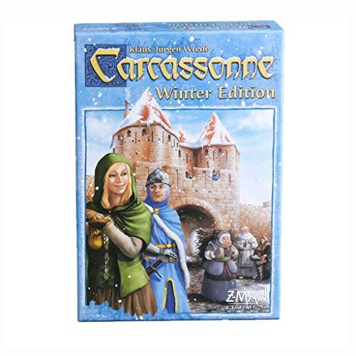 DEF Juego de Mesa Carcassonne, Juego de Estrategia clásico, Juego de Habilidad cooperativa de Cultivo para niños, Adultos, Fiestas Familiares (Edition : Winter Solstice Edition)