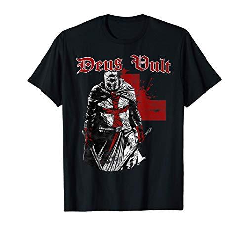 Deus Vult - Knight Templar - Vintage Crusader Camiseta