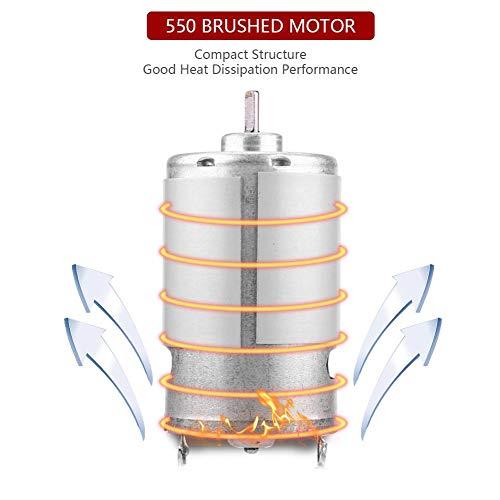 Dilwe Motor del Coche RC, Universal 550 Motor Cepillado para HIMOTO E10MTL E10MT E10BP 1/10 Escala RC Modelo de Coche Componentes de Componentes Accesorios