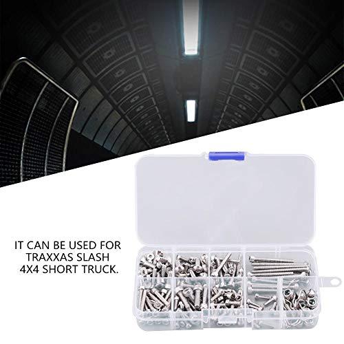 Dilwe RC Tornillos Kit, Metal Acero Inoxidable Tornillo Kit con Caja para Traxxas Slash 4x4 Short Truck Car Coche Control Remoto Repuestos Accesorios Componente