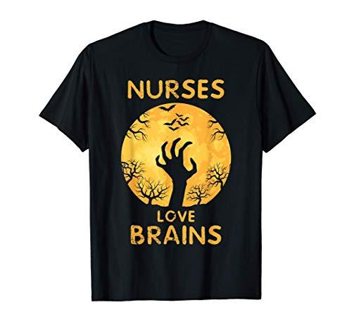 Disfraz de zombi divertido de Halloween para las enfermeras Camiseta